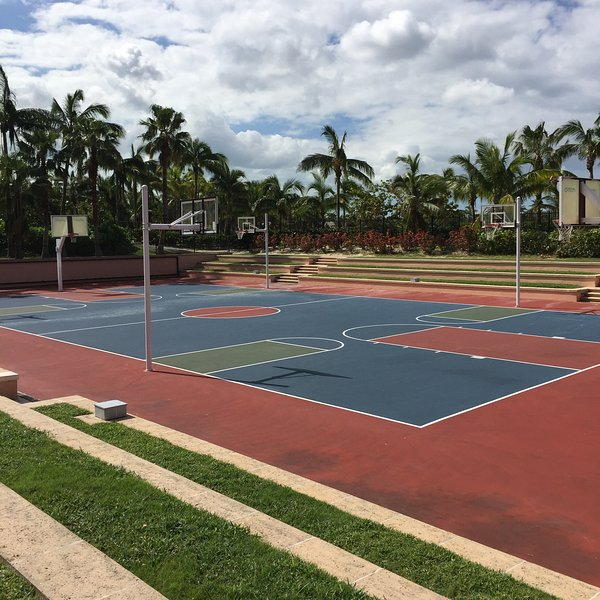 Basketball courts at Atlantis