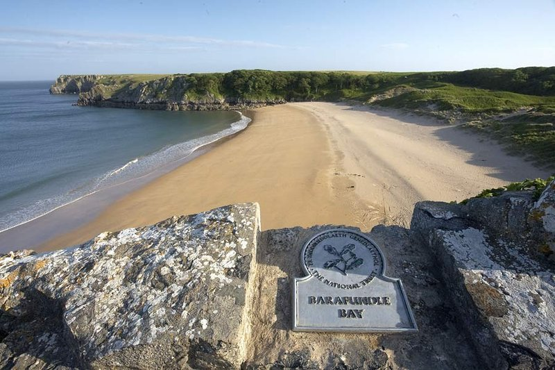 Front door walk to National Trust owned Barafundle Bay - the nation's favourite!
