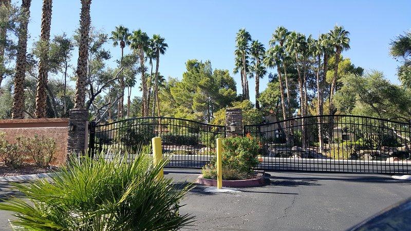 Gated entrance to Las Vegas Lakeside