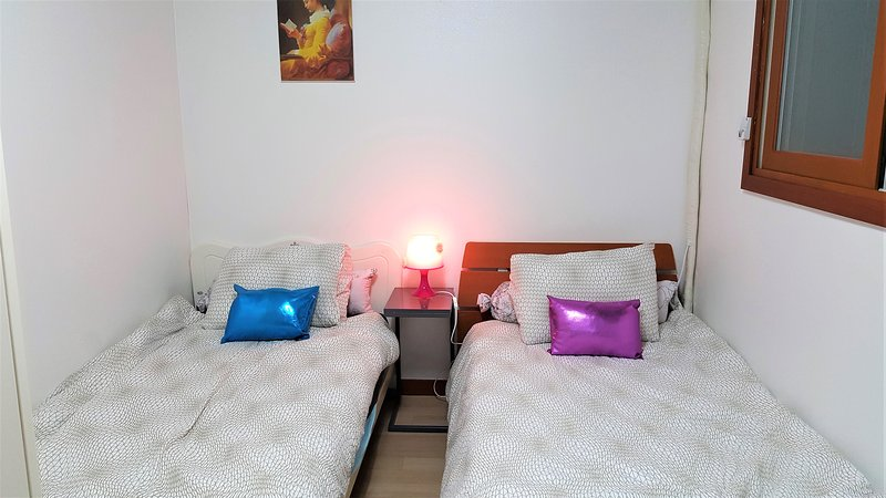 Comfortable two single beds