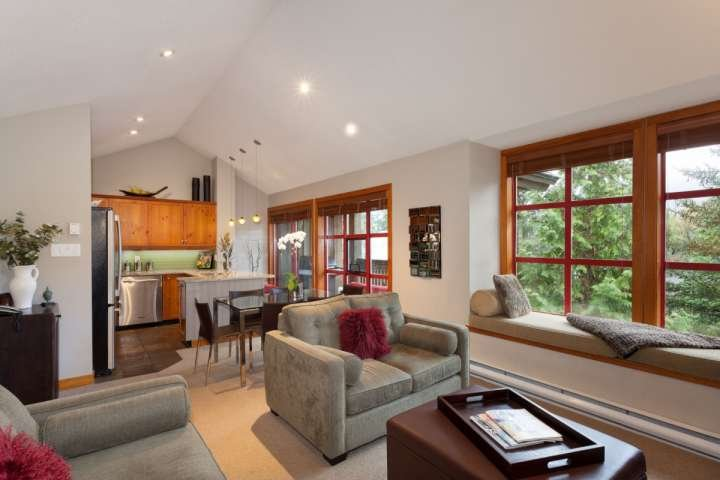 Beautiful vaulted ceilings and comfortable open floor plan