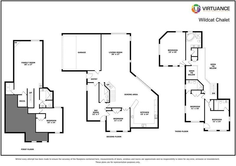 Wildcat Chalet - Floorplan