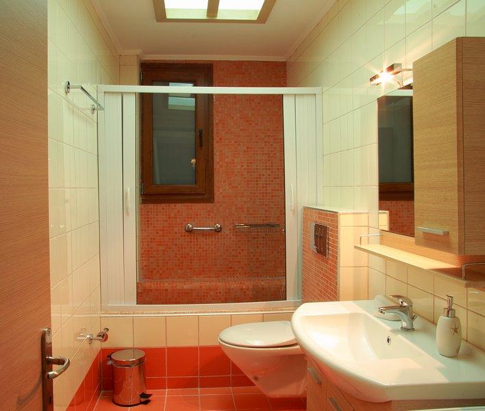Modern  fully equipped bathroom
