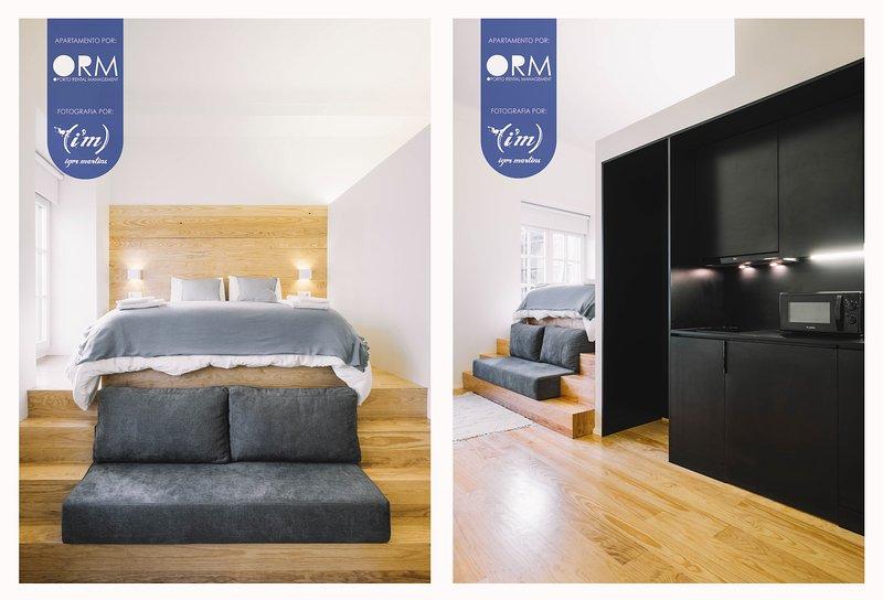 Bedroom + Living room + Kitchen