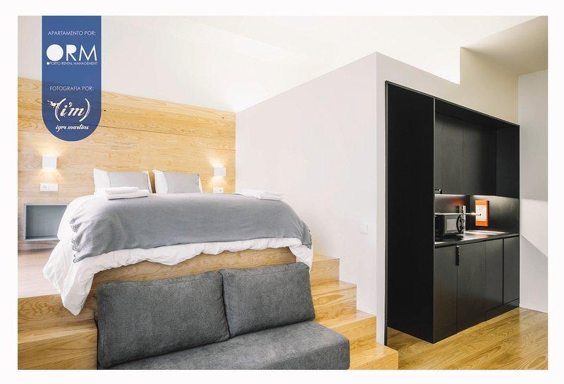 Bedroom + Kitchen
