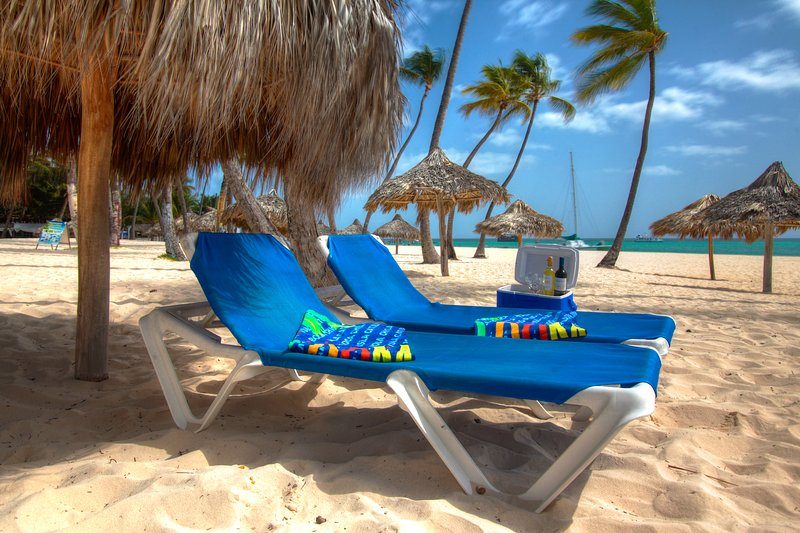 We provide free of charge loungers on our beach as well as beach towels
