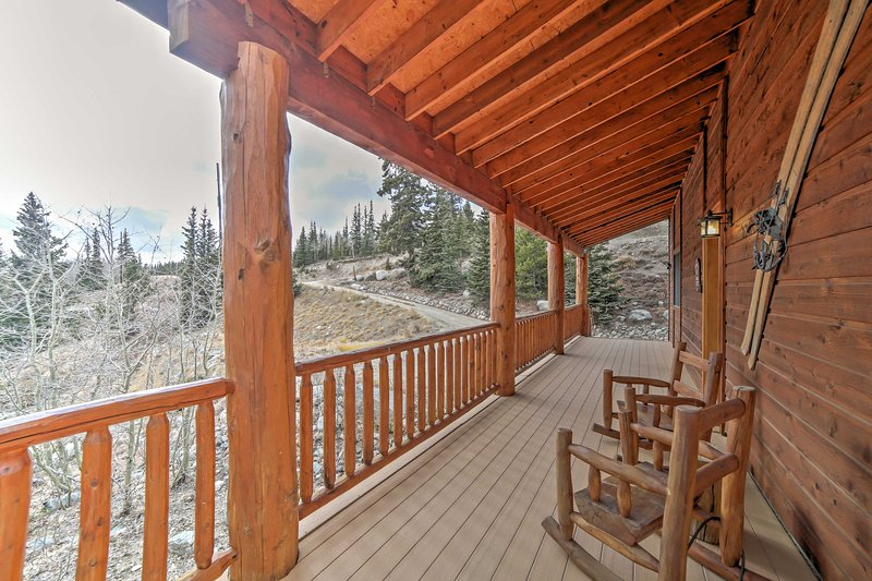 Sit back and soak up the stunning alpine views!