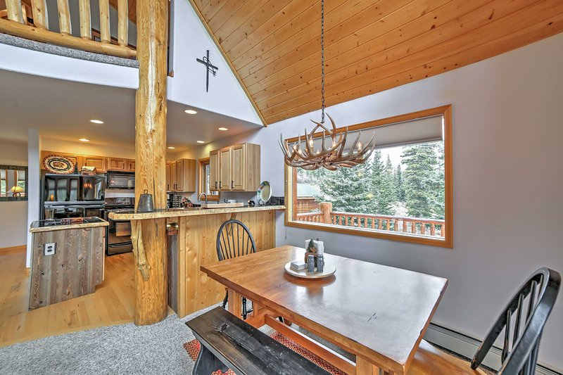 You'll love the open layout of this cabin's main living space.