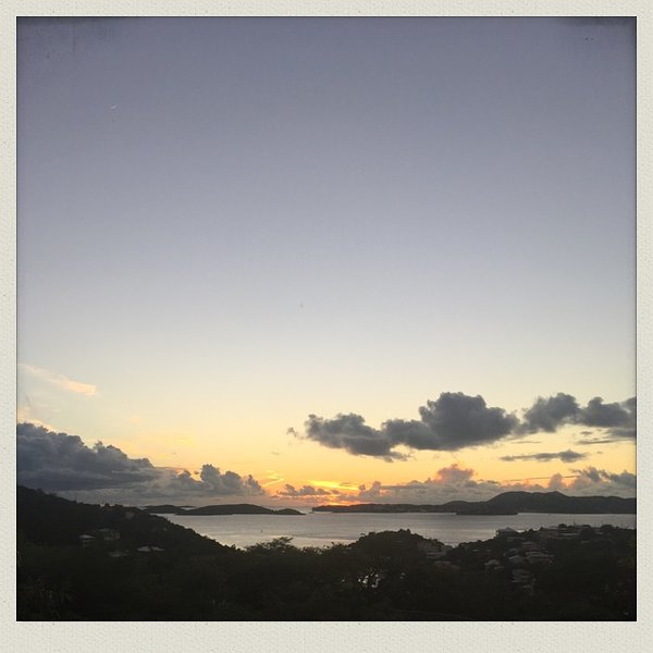 View from The Hills. ~ overlooks Cruz Bay and St. Thomas