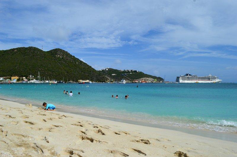 Guana Beach, minutes from the villa.