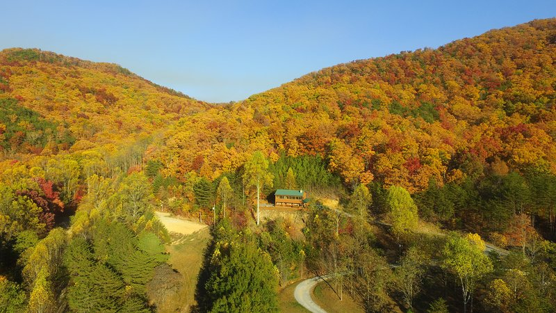 Beautiful Fall Foilage and backs up to the national forest!  Secluded,  serene and easy to drive!