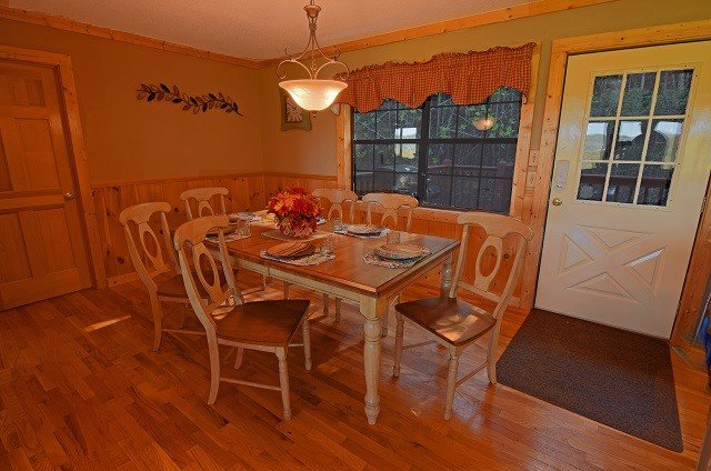 Large dining room table with room for the whole family