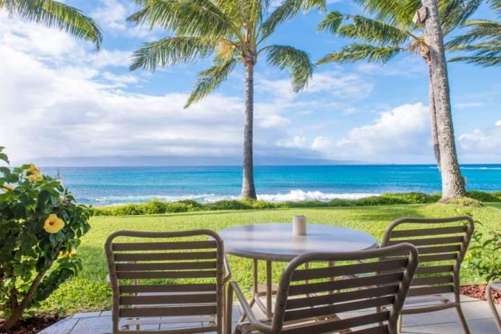 Napili Shores I 173 has a fantastic view from your lanai - great for whale watching in the winter!