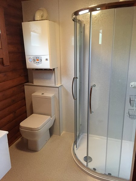 The newly refurbished bathroom in Bamburgh Lodge