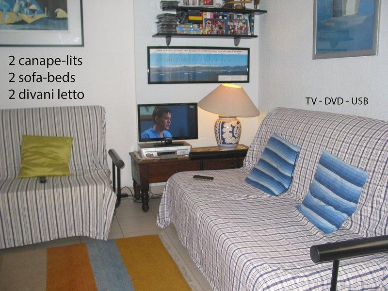 = VIVANT 2 canapés-lits 2 x 2 = 4 personnes