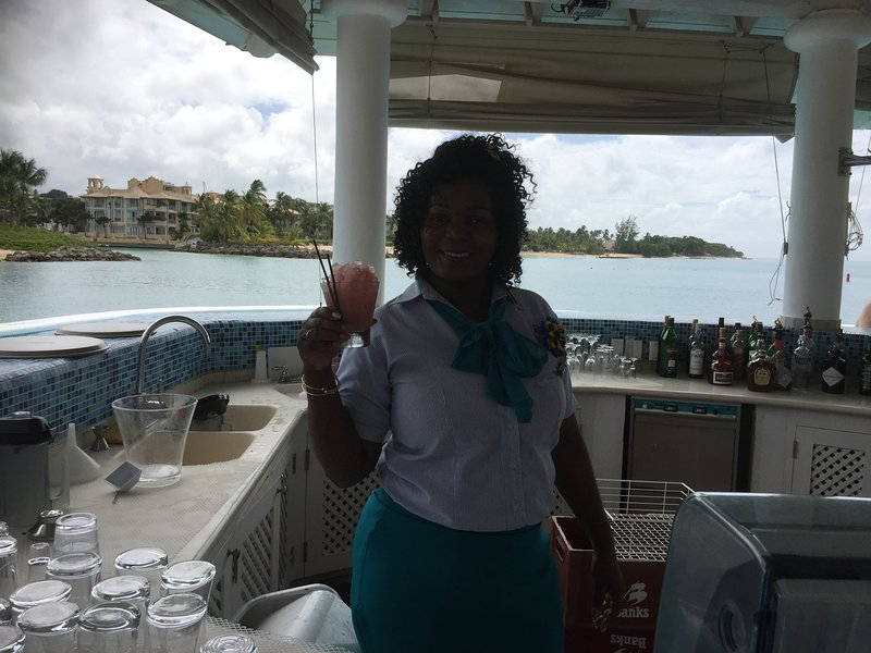 spieghstown special cocktail at port saint charles  yacht club