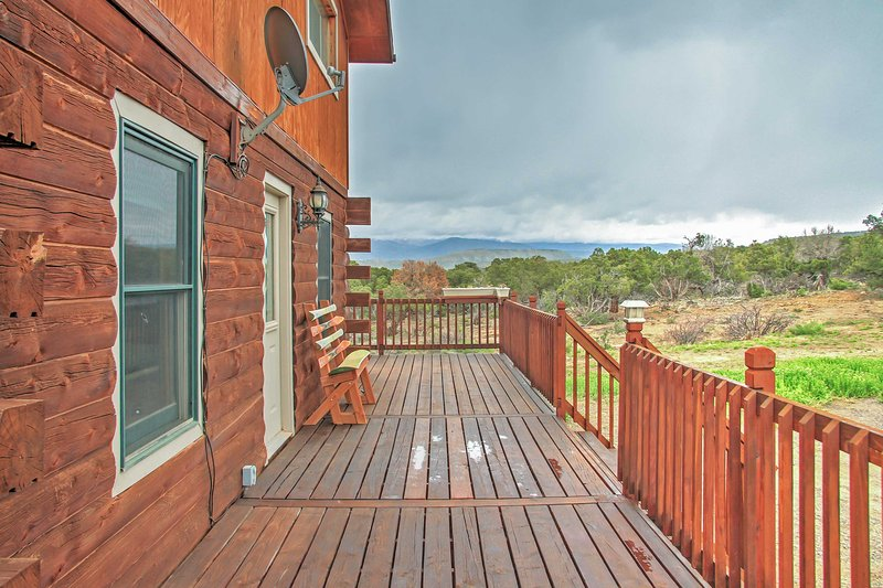 Elevate your Rocky Mountain getaway by staying at this private Montrose vacation rental cabin!