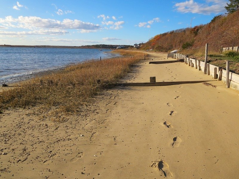 The beach below. Leave nothing but your footprints in the sand behind - 30 Seabeach Road Chatham Cape Cod New England Vacation Rentals