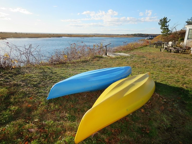 2 Single kayaks provided for you use. Use at your own risk. Paddles and life vests included. Take an adventure! - 30 Seabeach Road Chatham Cape Cod New England Vacation Rentals