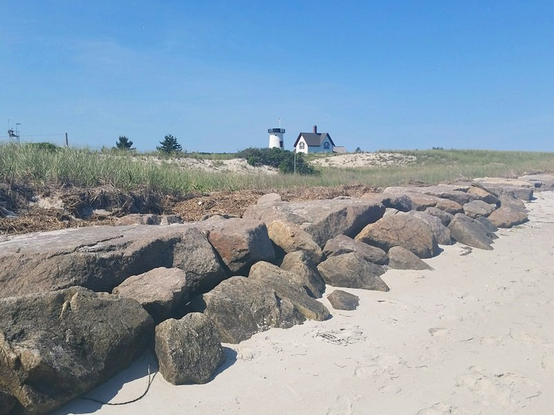 Take a closer look at the Stage Harbor Lighthouse, just across the water from 30 Seabeach Road - Chatham Cape Cod New England Vacation Rentals