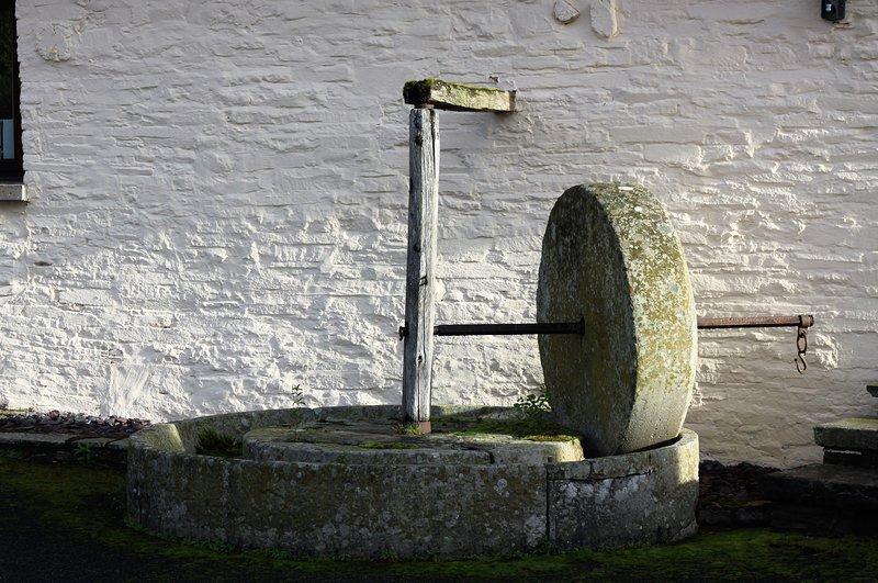 piedra de molienda tradicional