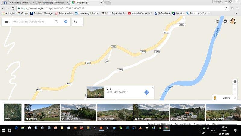 Waar we zijn ont de kaart, op zoek naar RUSTIALVA