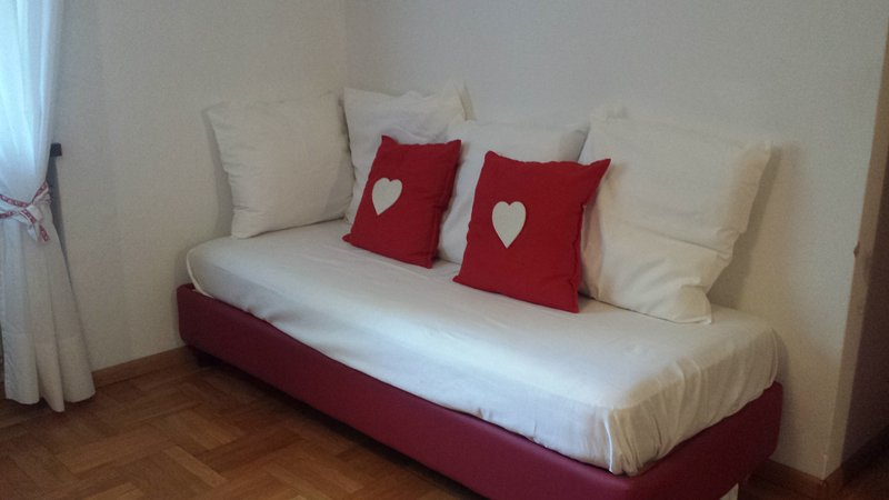 Sofa bed in the bedroom