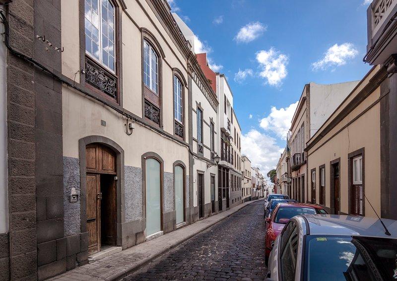 Fachade de Casa San Marcial dans la belle vieille ville, Vegueta!