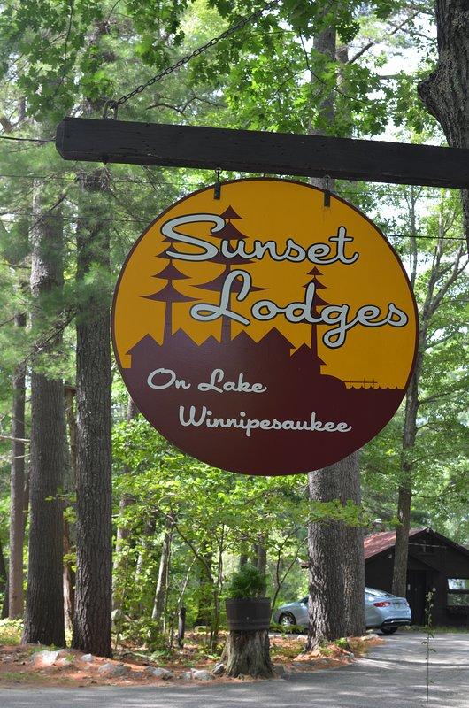 Sunset Lodges Roadside Sign