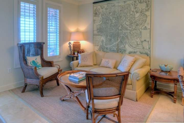 Sitting Area located off dining area, a perfect place to relax after a long day on the beach!