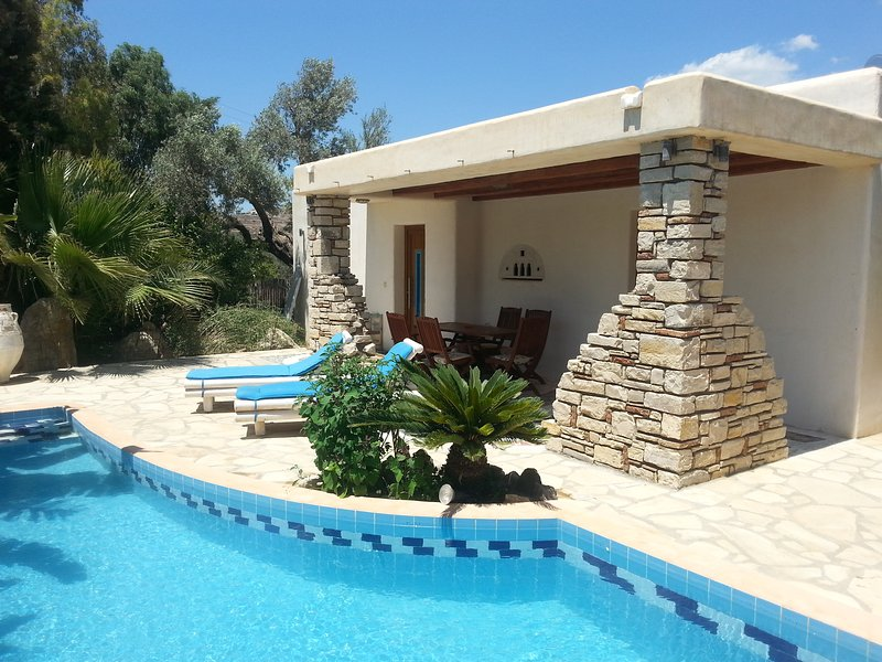 Villa Paradisos 1, 4-5 Pers., Pool, W-LAN, TV-Sat, Southcrete, holiday rental in Pitsidia