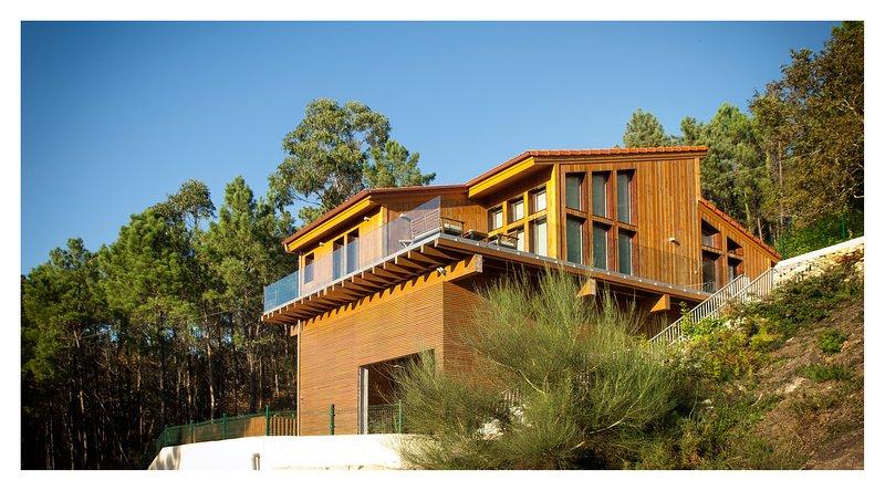 Eco Casa de Tavilo, con vistas al mar, holiday rental in Sierra de Outes