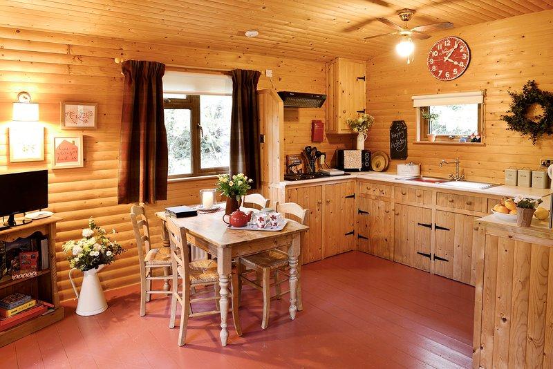 Agradable zona de la cocina