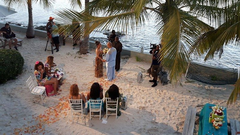 Watching a TV wedding being filmed from the balcony of Blue Lagoon