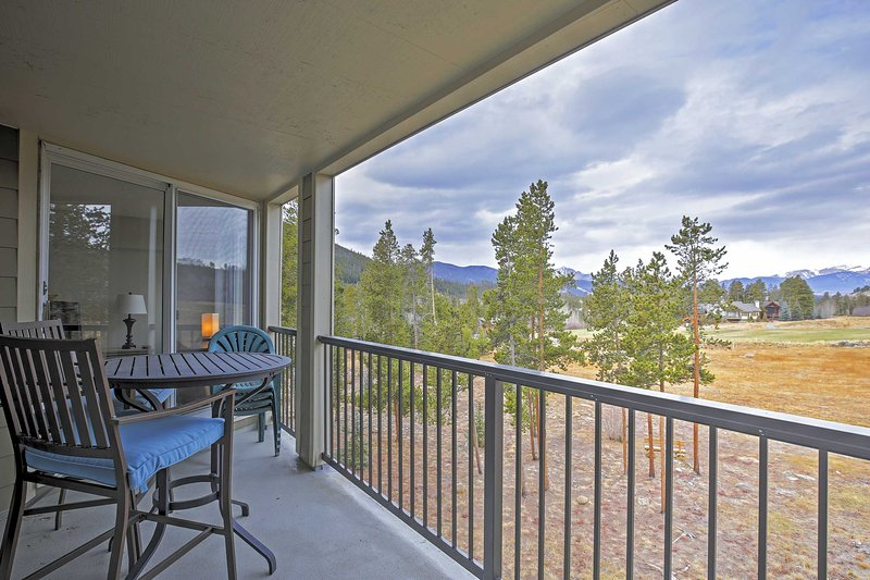Enjoy picturesque views of the Rocky Mountains when you book this inviting Keystone vacation rental condo!
