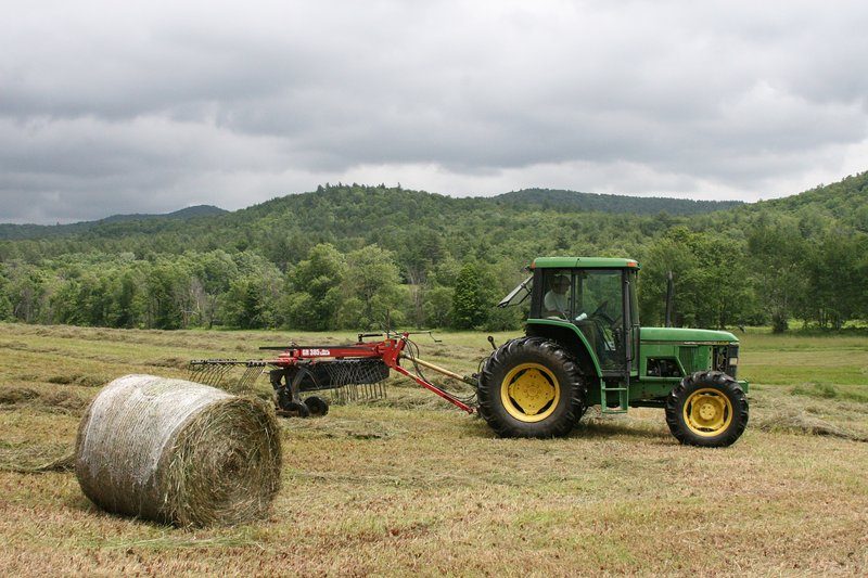 Vermont Charm at it's Best: Haying the Field in Summer