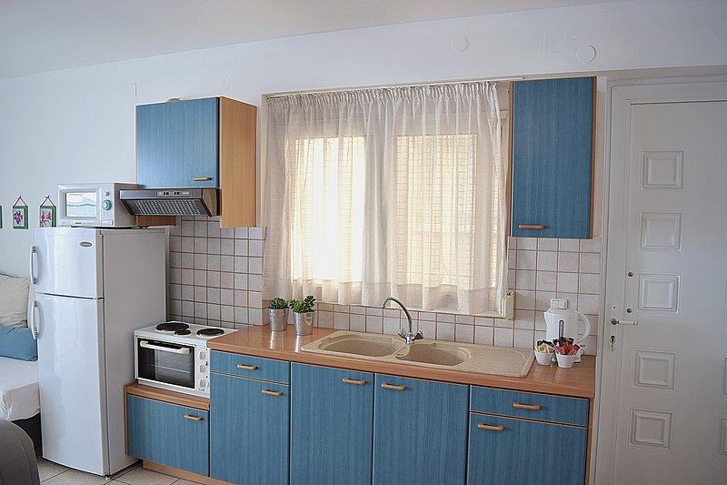 Kitchen- Holiday Beach Apartment in Kiveri Dorf in der Nähe Nafplion
