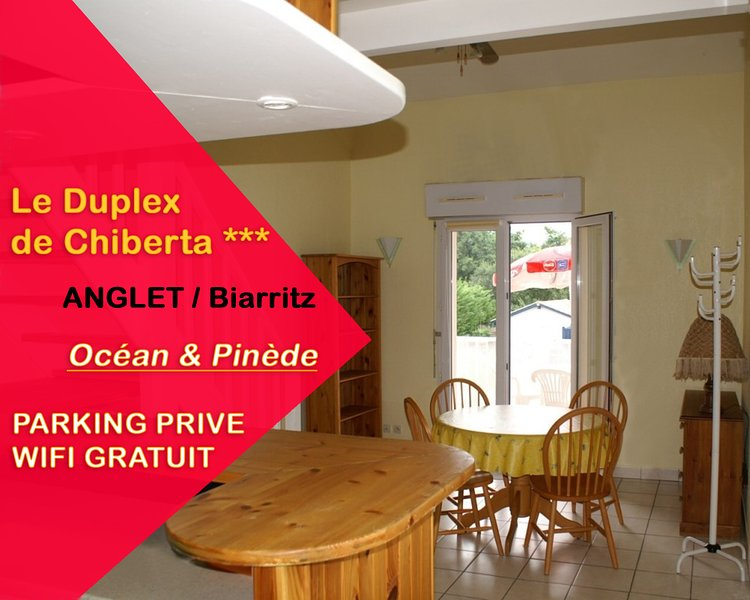 ANGLET / Biarritz : Nice Duplex 3* with 2 bedrooms, close to ocean and forest, holiday rental in Boucau