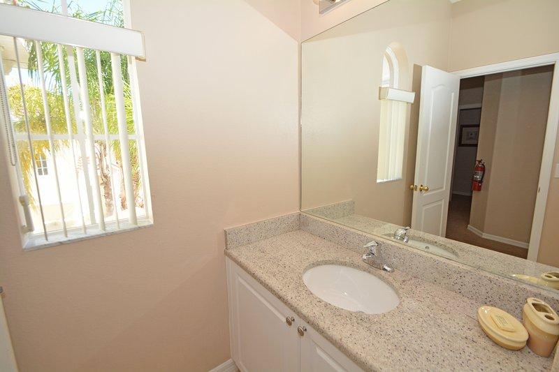 Family bathroom showing basin area