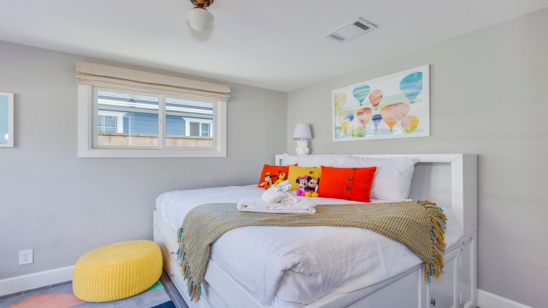 Bedroom 4: Kids room with full/twin trundle.