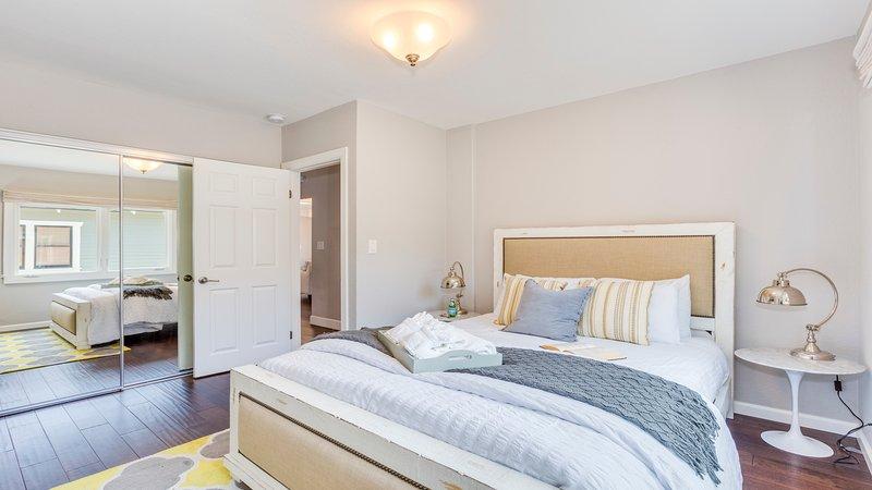 Bedroom 3: Master bedroom, queen bed.