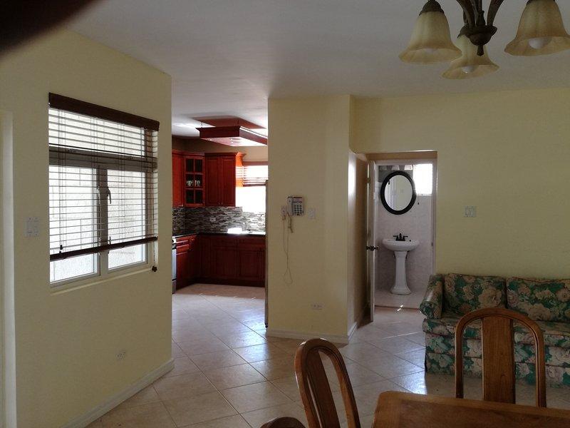 Lounge towards the kitchen area