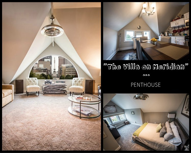 The Villa on Meridian-Penthouse, holiday rental in Plainfield