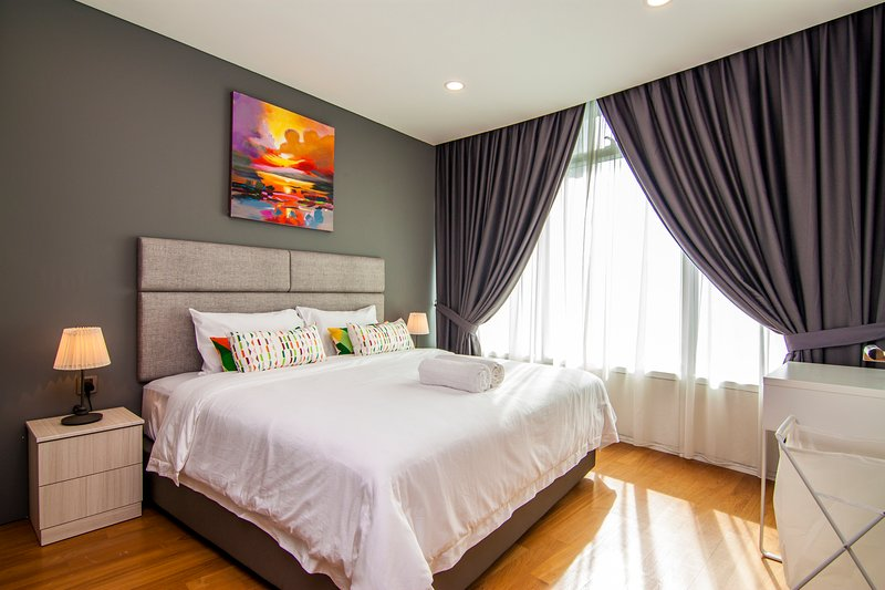 Luxury master's bedroom with king bed
