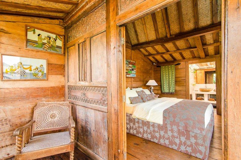 chambre à coucher en bois