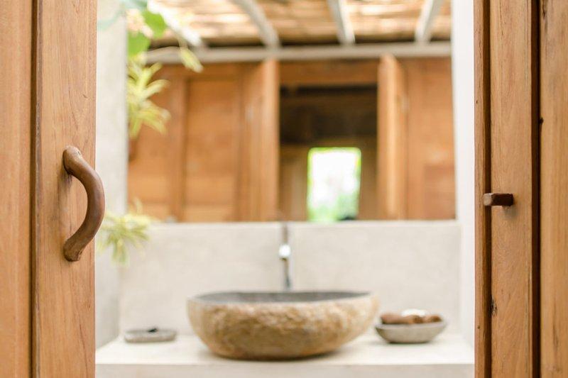 Cuarto de baño dormitorio de madera