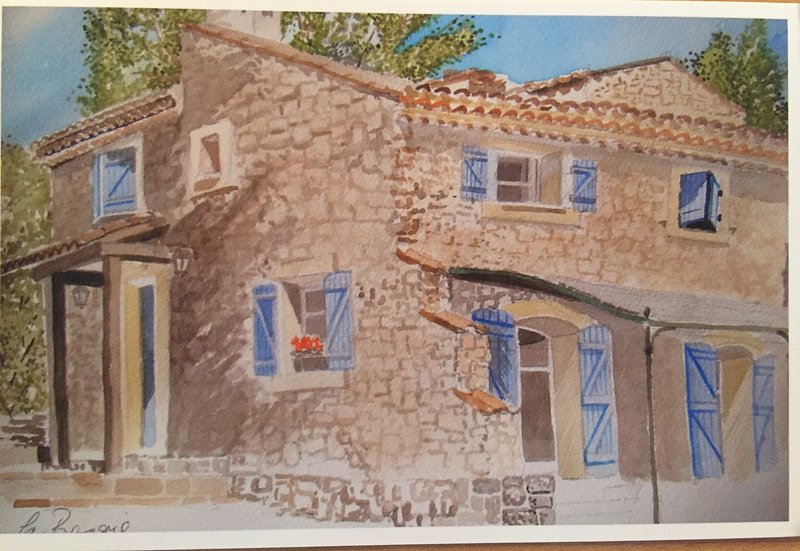 Charming traditional stone house, private pool, near village and supermarket, holiday rental in Bagnols-en-Foret