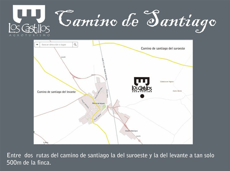 two road routes santiago 500 meters from the house.