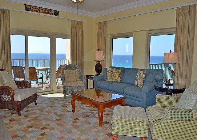 Beach Manor 1010 Soggiorno - Gibson Beach Rentals