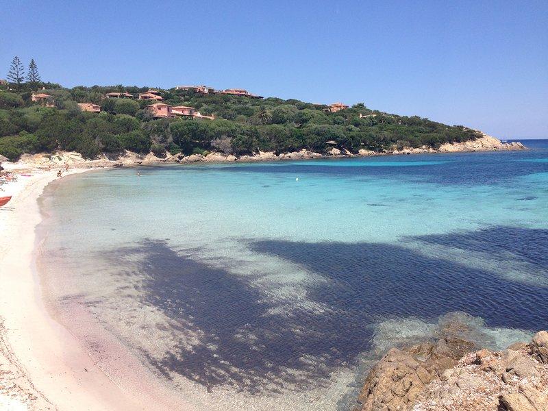 The Cala Granu beach few steps away